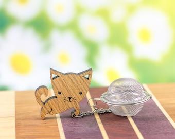 Tea Buddy™ Cat Tea Infuser | tea accessory, cat lover gift, tea steeper, tea strainer, tea infuser, tea ball, loose leaf tea, tea charm