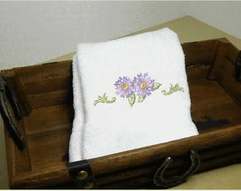 Hand Towel, embroidered towel, Spring decor, home decor, bath decor, bath hand towels, towels,flower decor,decorative towels,home and living