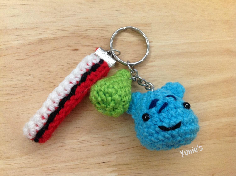 Amigurumi Keychain Loop : Crochet amigurumi Bulbasaur amigurumi keychain Pokemon