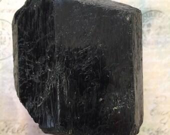Large Raw Black Tourmaline Crystal
