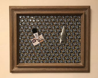 Framed Corona Bottle Cap Magnet Board
