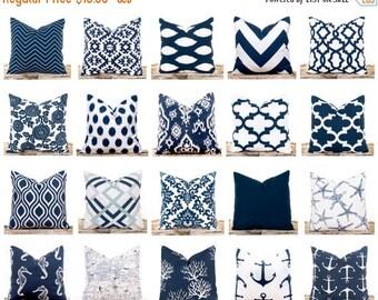 sale ends soon navy throw pillows ikat pillow covers polka dots nautical pillows