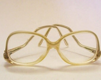 Vintage Ladies Plastic Eyeglasses Frames Prescription with Vintage Case