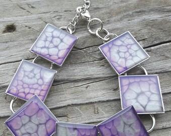 Square bracelet bezel setting silver bracelet square bracelet silver bezels square bezels silver jewelry chain link bracelet Mother's Day