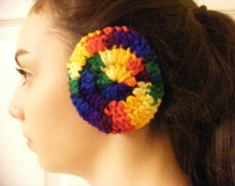 Crocheted Ear Muffs, Ear Muffs,