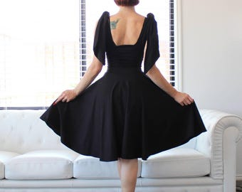 Made to Measure, Sexy Black Cherrybomb Ribbon Dress by HARDLEY DANGEROUS COUTURE