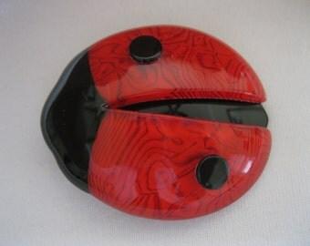 Ladybug Pin By French Designer Lea Stein