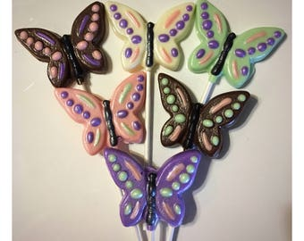 Butterfly Chocolate lollipops, Butterfly chocolate favors