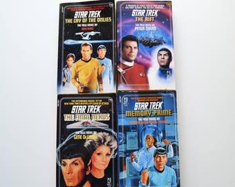 Four Vintage 1980's Star Trek Novels