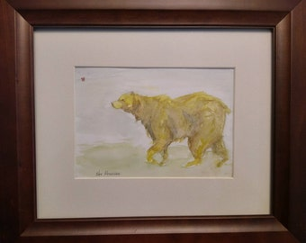Bear color sketch watercolor.