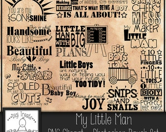 50% OFF~My Little Man Word Art, Children, Boys Quotes & Phrases, Scrapbooking, Card making, Photo Overlay Word Art. Instant Download