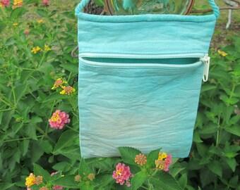 Tie Dye Bag, Grab and Go Bag, Rope Bag, Hippie Bag, Canvas Bag, Small Bag, Free Spirited Bag