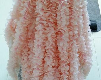 "10pcs Length 2m/78.7"" Cattleya Hanging Flowers Wedding Ceremony Decor Wisteria Vine Wedding Arch Floral Decora"