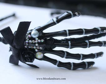 Gothic Skeleton Bone Hand Hair Band