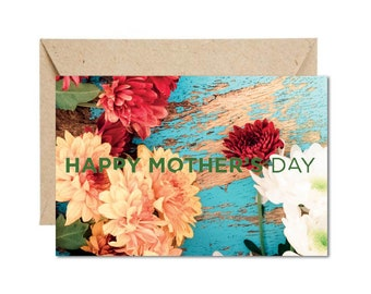 Rustic Flower Mothers Day Card