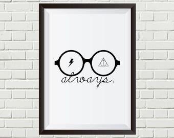 Harry Potter - Glasses + Deathly Hallows Symbol + Scar | Digital Download