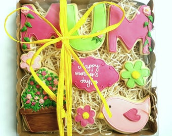 Mother's Day Bespoke Biscuit Cookie Gift Box