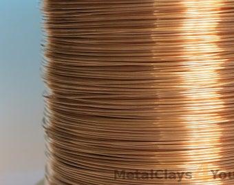 Unplated Bronze Soft Round Wire