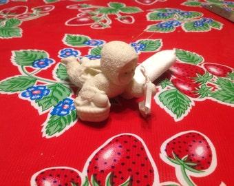 Vintage Snow Baby ceramic Christmas ornament