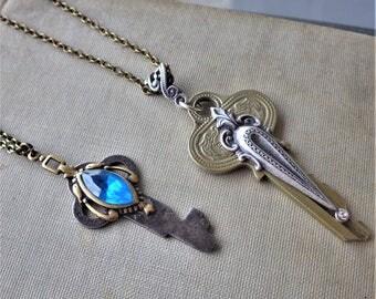 Vintage Upcycled ~ Key Necklace - One Of a Kind - Key Pendant ~ by LadyofTheLakeJewels