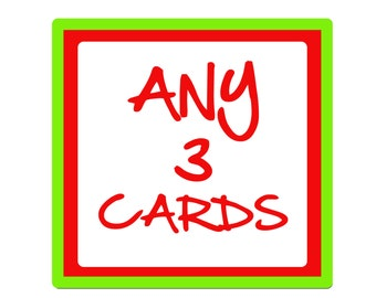 Choose ANY 3 birthday cards or greeting cards from ANY of our ranges.