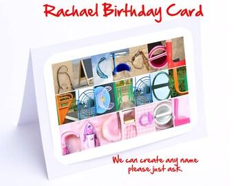 Rachel Personalised Birthday Card