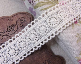 1 yard Vintage style Cotton Crochet Lace Trim 2.5cm wide #mj
