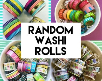 Random Washi Rolls Mystery Grab Bag - 5 - 10 - 15 - Full Rolls - Planner Supplies - Scrapbooking - Decorative tape - Various Styles