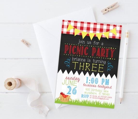 geburtstag party einladung geburtstag picknick, Einladung