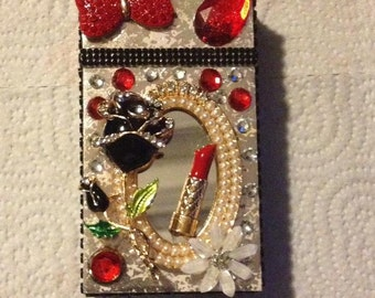 Mirrors & Roses Cigarette Case  ,Cigarette Pack Holder