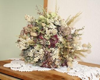 8 Dried Hydrangea flowers DIY craft bouquet S