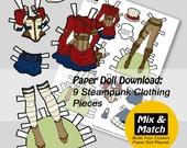 Steampunk Paper Doll Clot...