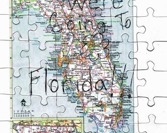 Vacation Puzzle - Trip Puzzle - Cruise Puzzle - Travel Puzzle - Family Vacation - Florida Puzzle - Vacation Announcement - Jigsaw Puzzle