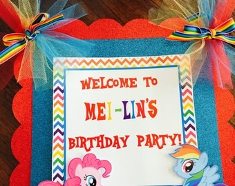 My little pony door banner , Rainbow dash door banner
