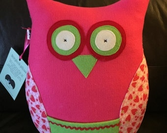 Storybook pillow, kids home decor, reading pillow, owl pillow, accent pillow for kids, kids pillow