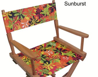 Everywhere Chair Waterproof Print CANVAS Replacement Cover Set for Directors Chair (ROUND STICK, Canvas)