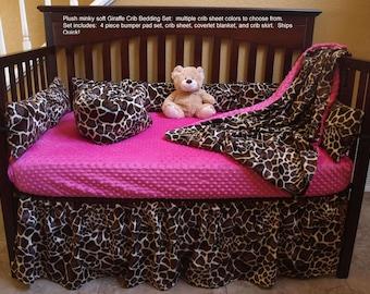 Giraffe Baby Bedding Set Safari Crib Bedding