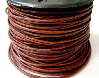 Red Brown 1.5 mm Leather Cord SELECT LENGTH