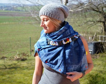Scarf Cap stole cloth of jeans