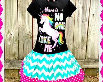 Girls Unicorn dress girls 6/6X 7/8 and 10/12 ready to ship