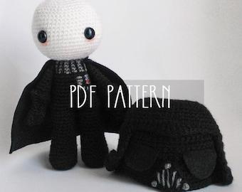 PDF PATTERN - EN - Crochet pattern for amigurumi -  Darth Vader Doll - ooak