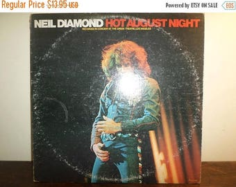 Save 30% Today Vintage 1980 LP Vinyl Record Neil Diamond Hot August Night Excellent Condition 10895