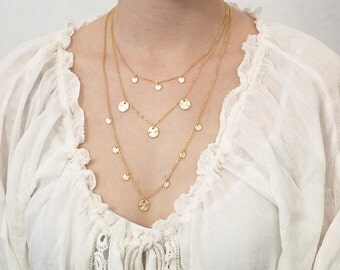 Layering necklace plates