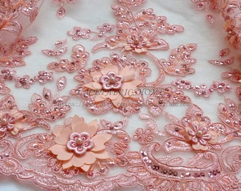 Pink lace fabric   Etsy