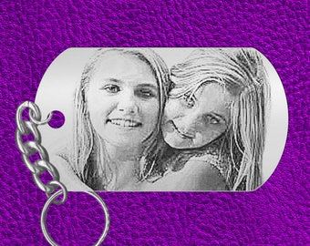 Picture Keychain Gift for SISTERS, use your photo, Personalized FREE! Engraved