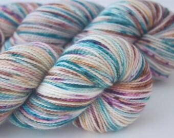 "Fine Merino Sock ""Prismarine"" Hand Dyed Yarn"