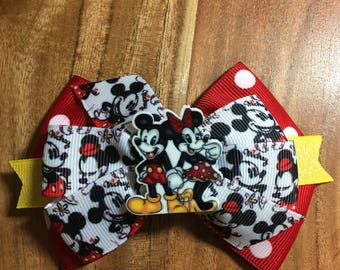 Mickey & Minnie Couple Bow