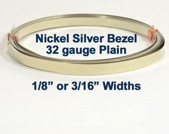 Nickel Silver Bezel Wire - 32 Gauge - Choose Your Width & Length