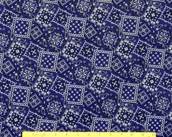 Bandana Fabric Deep Purple 100% Cotton