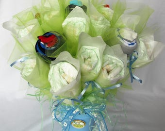 Baby Boy Diaper Sock Bouquet